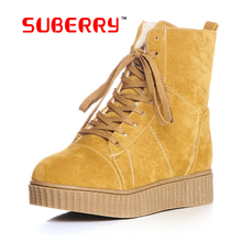 2016 New Fashion Flats Snow Boots Down Warm Ankle Boots Martin Boots Suede Leather Outdoor Casual Timber Boots Botas Hombre33-42