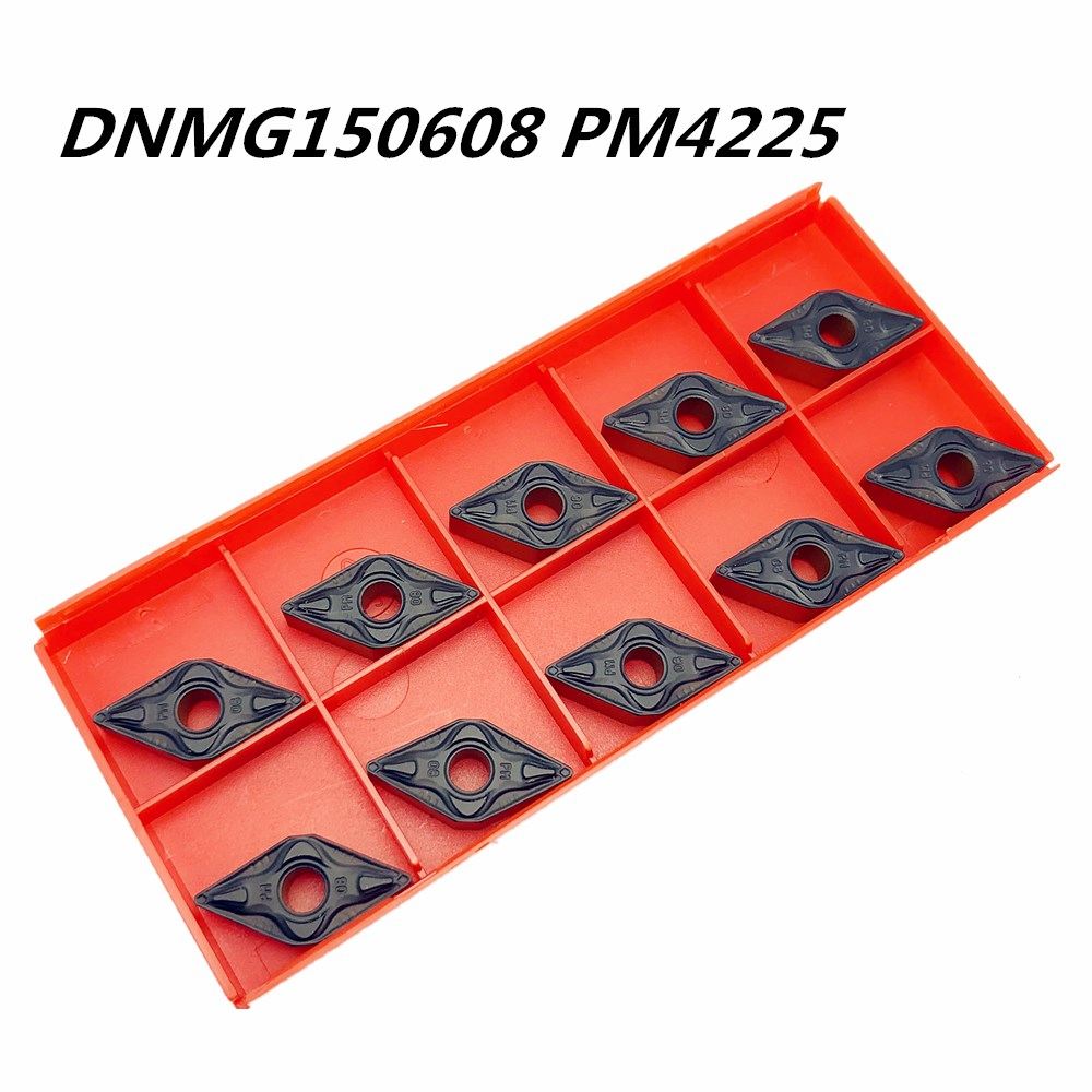 10PCS New High quality carbide inserts DNMG150608 PM4225 external metal turning tools CNC parts turning tools