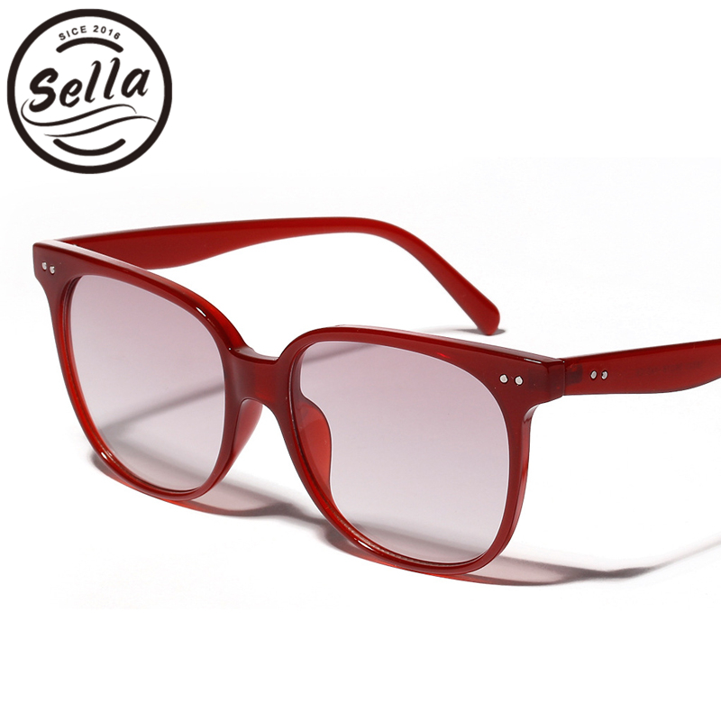 6b5d265a492 Sella New Fashion Women Men Candy Color Square Sunglasses Trending Ladies  Jelly Color Transparent Frame Gradient Lens Glasses-in Sunglasses from  Apparel ...