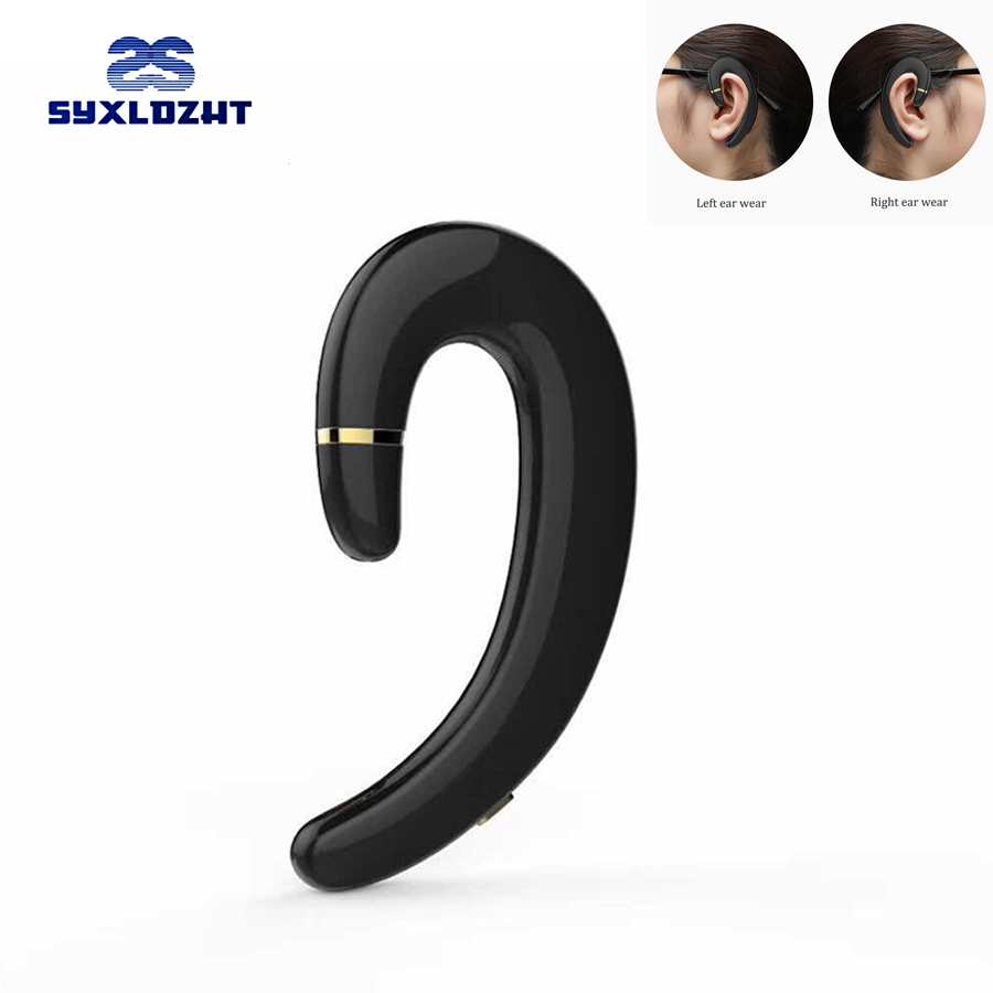 SYXLDZHT Wireless Bluetooth Earphone Ear-hook Headset Not earbuds Headphones HD call Wireless Earphone for Phone with Mic