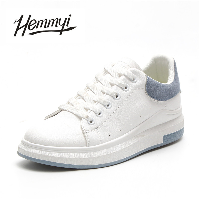 Hemmyi brand women shoes 2018 spring white lace up fashion ladies shoes woman sneakers tenis feminino casual shoes basket femme wolf who women winter shoes fur wedge fashion sneakers women hidden heels basket femme tenis femininos casual h 152