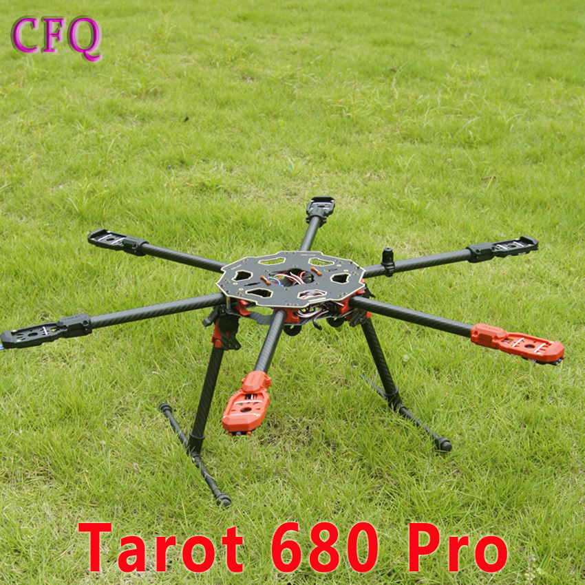 ormino Tarot-RC 680pro 6 axis multicopter frame carbon fiber quadcopter frame KIT RC Multi Rotor drone FPV RC Diy UAV Aerial 680 daya 680 daya 680 folding 4 axis carbon fiber uav h4 quadcopter frame w landing gear for fpv rc multicopter drone frame kit
