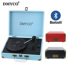Mejor Reproductor de Audio Portátil Bluetooth Mini Estéreo de $ Number Velocidades Turntable Vinyl Record Soporte USB/Aux-in para Reproductor de CD/altavoces