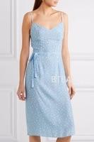 Ретро HV * morgan 100% шелковое синее платье с принтом звезды Женская сорочка винтажное элегантное платье Весна Лето 1940 S