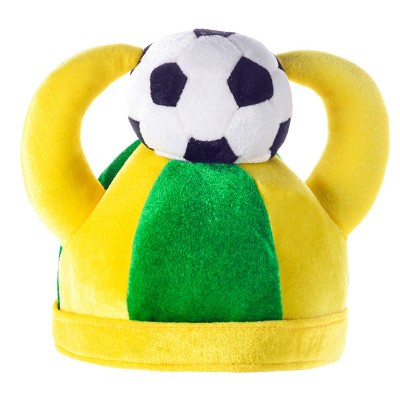 Sports Meet Brazil Football Games Cap Fans Cheerleading Team Cheer Headwear Hats For Kids And Adult