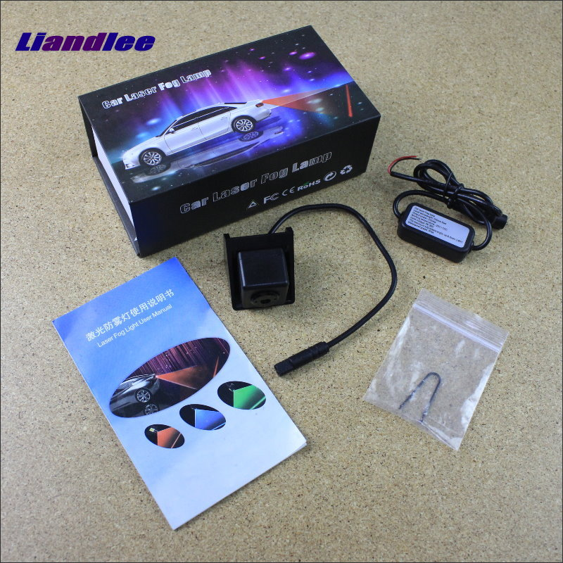 Liandlee Anti Collision Laser Fog Lights For Ssangyong Actyon 2010~2015 Car Rear Distance Warning Alert Line Safe Drive Light car tracing cauda laser light for volkswagen vw jetta mk6 bora 2010 2014 special anti fog lamps rear anti collision lights