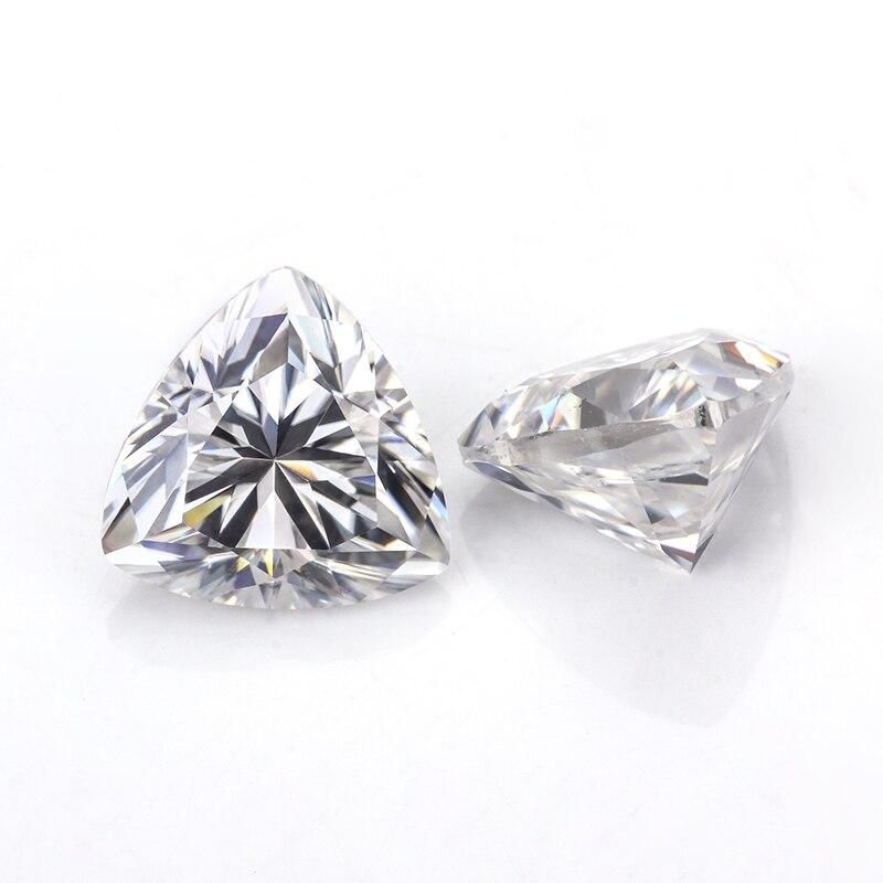 (2 Stücke) Ein Paar Ef Farbe 5*5mm Trillions Cut Moissanites Steine Edelsteine Perlen Diamanten ZuverläSsige Leistung