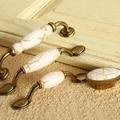 Marbling Cerâmica Tipo Punho Do Armário Lidar Com Alça Europeu Antigo Rural Mão Gaveta Puxa S Series