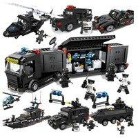Children Toys Building Blocks City Police Truck Blocks Toy Bricks Educational Building Toys for Children