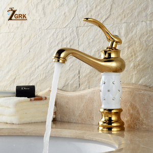 ZGRK Basin Faucets Golden Bath