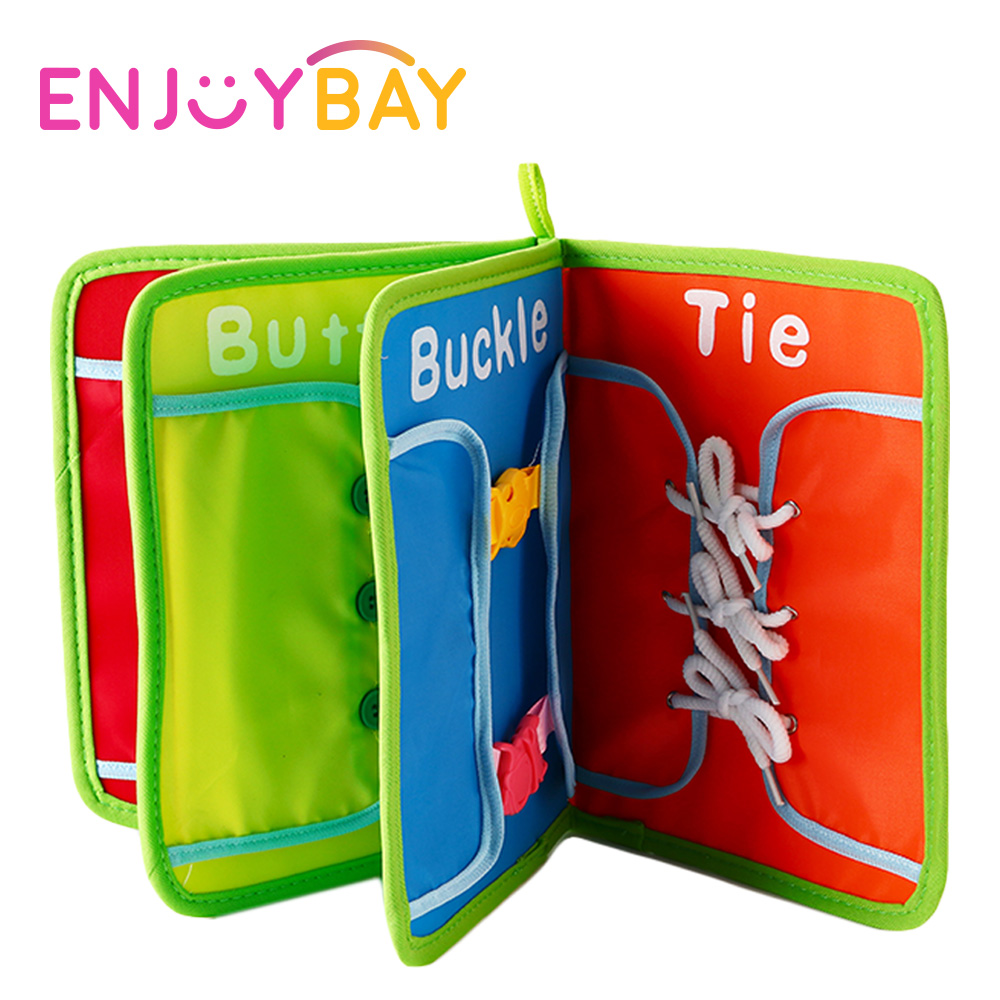 Enjoybay Baby Cloth Book Educational Toys Dress Teaching Board for Zip/Snap/Button/Buckle/Lace/Tie Early Learning Toy for Child