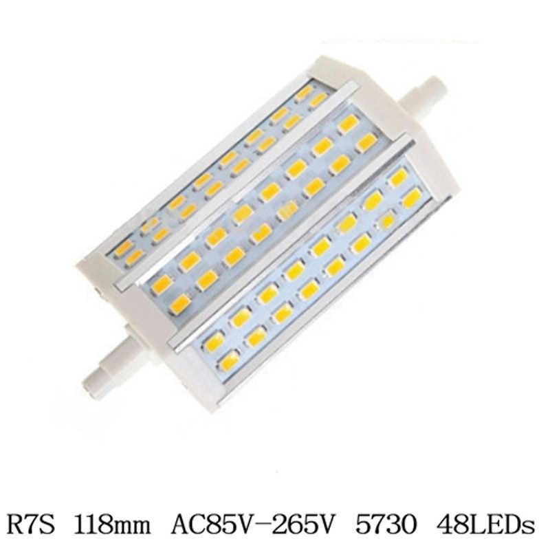 R7S LED 15 w 25 w SMD5730 Led R7S 78mm J78 118mm J118Lamp אופקי Plug אור הלוגן הארה