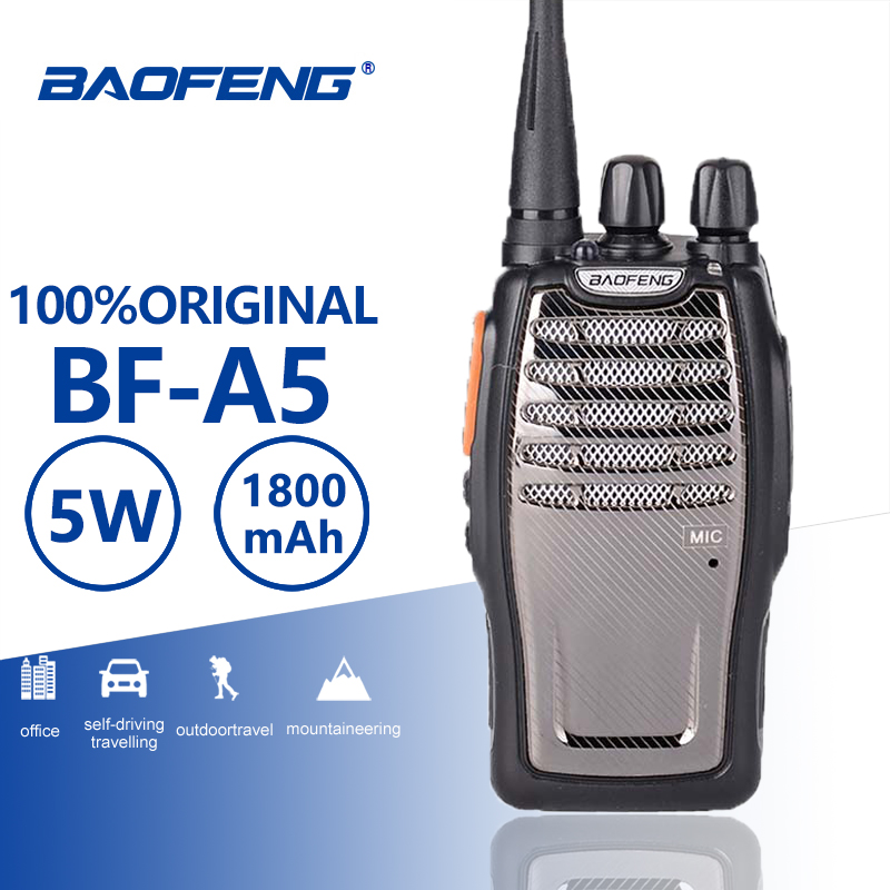 Baofeng A5 Single Band UHF Walkie Talkie 5W 16CH BF A5 Portable Two Way Radio VOX Function Radio Comunicador Woki Toki Ham Radio