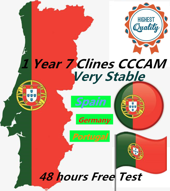 CCCAM 7 Cline for 1 Year Spain DVB S2 1year Europe Free Satellite ccam Account Share Sever Italy year TV Cable