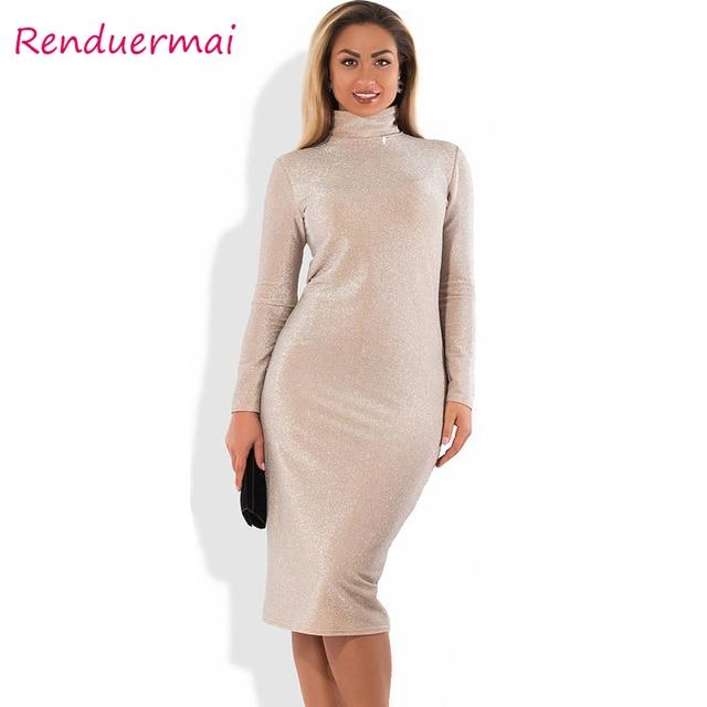 Aliexpress Buy Autumn Winter Dress Sparkly Bandage Bodycon