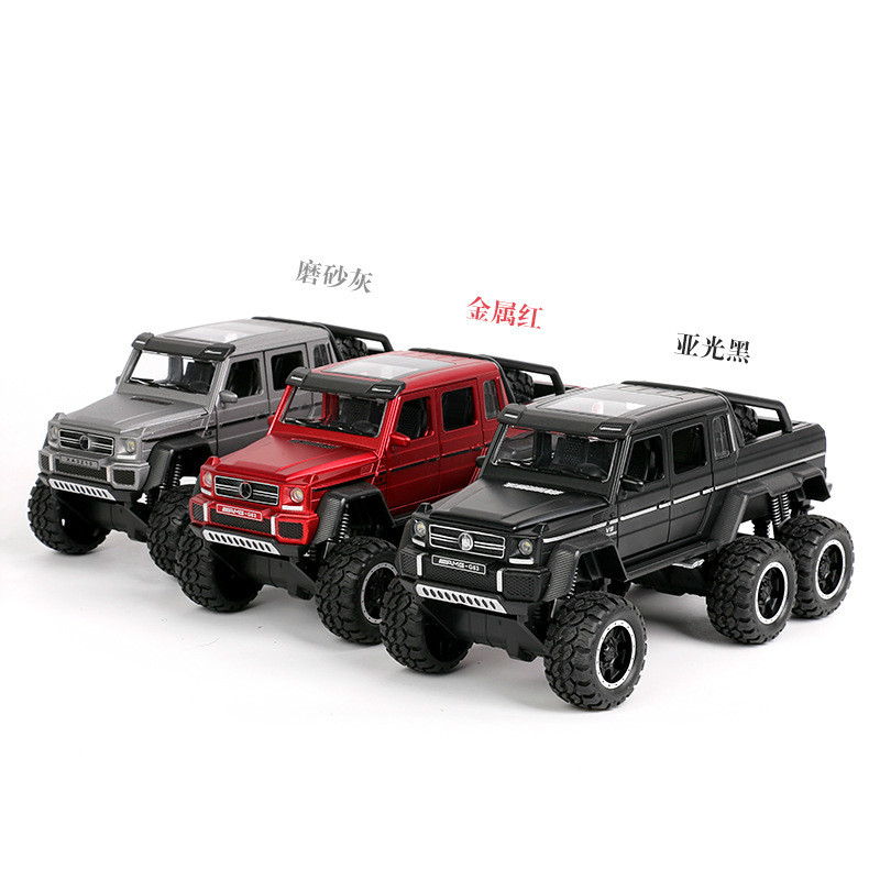 1:32 Toy Car G63 JEEP Metal Alloy Diecasts Vehicles Model with Light Sound Toys for Children  Boy Gifts
