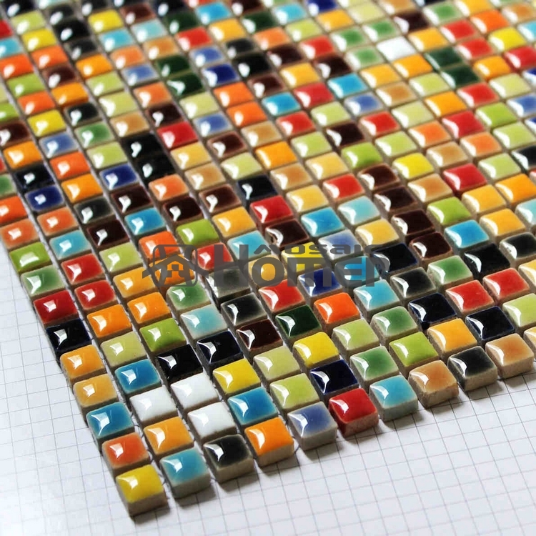 shipping free multi colors mini 3 8 ceramic mosaic tile sheet homer mosaic hme7057 for bathroom sunroom kitchen backsplash