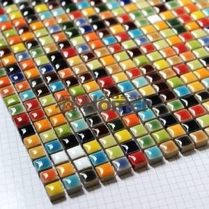 "shipping free! multi colors MINI (3/8"") CERAMIC MOSAIC TILE sheet , Homer Mosaic HME7057 for bathroom sunroom kitchen backsplash"
