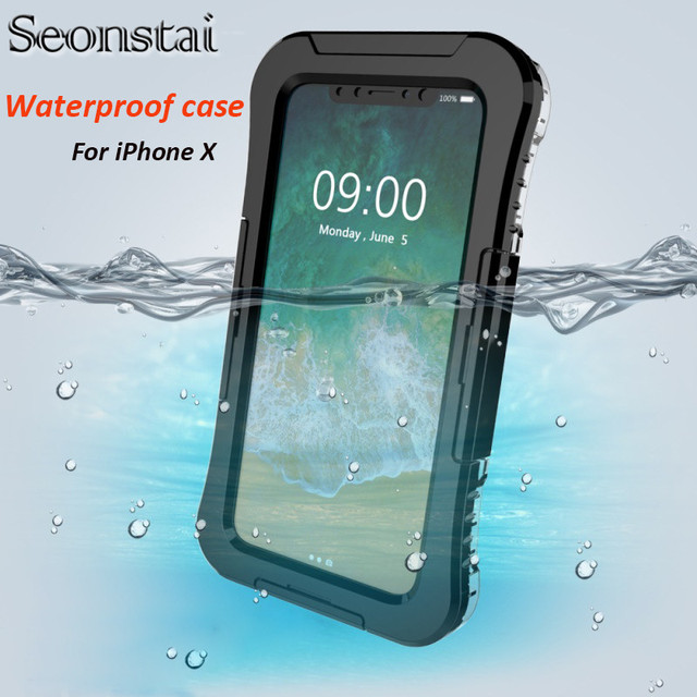 uk availability 84166 6be9c US $12.74 25% OFF|Seonstai Waterproof Case For iPhone X Swimming Diving  Water Shock Proof Cases For iPhone 8 7 6 6s Plus Skiing Back Cover  Fundas-in ...