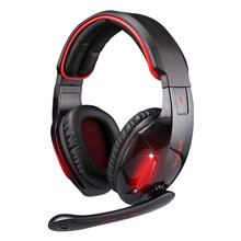 Portable Sport SadesSA902 7.1 Sound Channel Computer Game Headset LED Light USB Noise Cancelling Voice Control Earphone with Mic