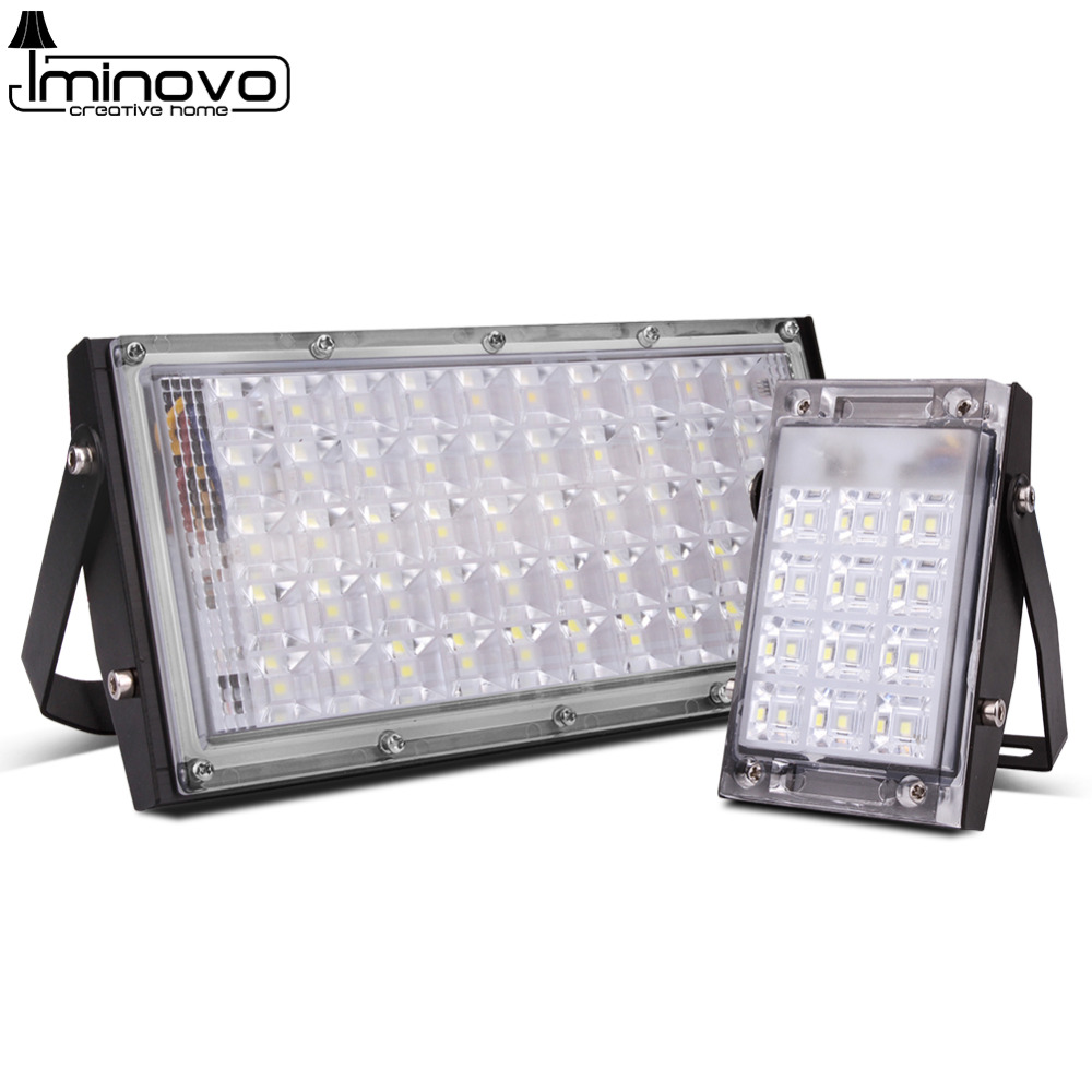 Led Flood Light Outdoor Floodlight Spotlight 10W 20W 30W 50W Wall Washer Lamp Reflector Lighting IP65 Waterproof Garden 220V SMD