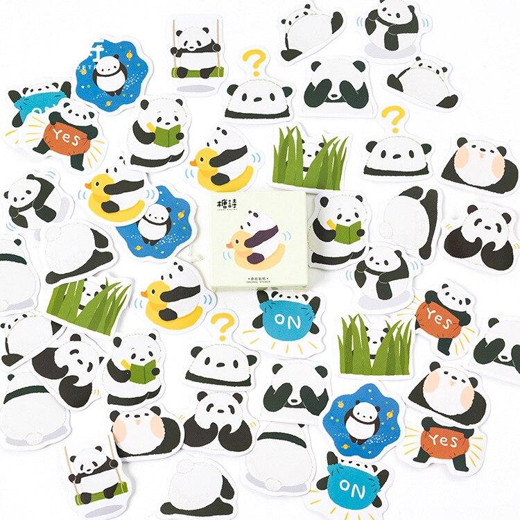 45 шт./лот Милые привет панда декоративные Наклейки клей Наклейки сделай сам украшения дневник канцелярские Наклейки Детский подарок