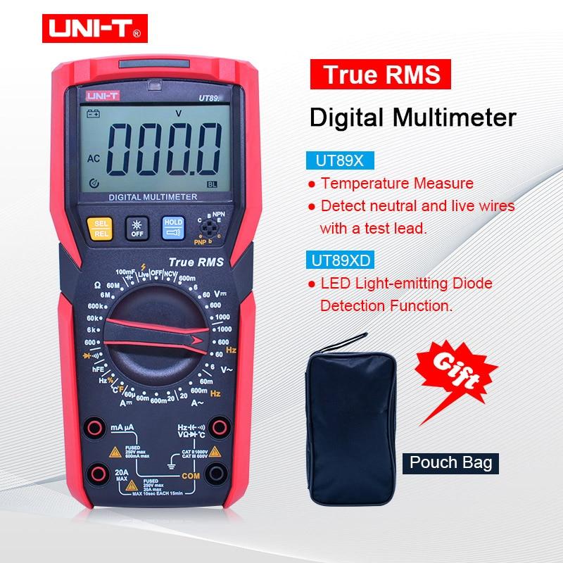 UNI-T UT89X/UT89XD true RMS Digital multimeter 20A high current digital multimeter NCV/capacitor/triode/temperature/LED test
