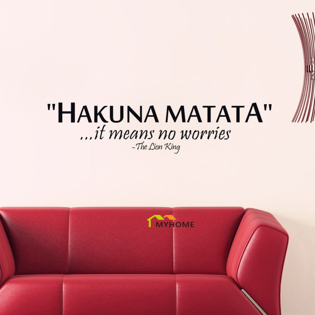 The Lion King Quotes Hakuna Matata It Means No Worries Decorative