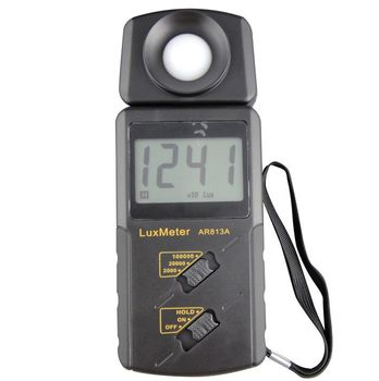 Hot Sale High Precision Handheld Portable  LCD Screen Display AR813A Measuring Range 1~100.000 lux Electronic Digital Lux Meter
