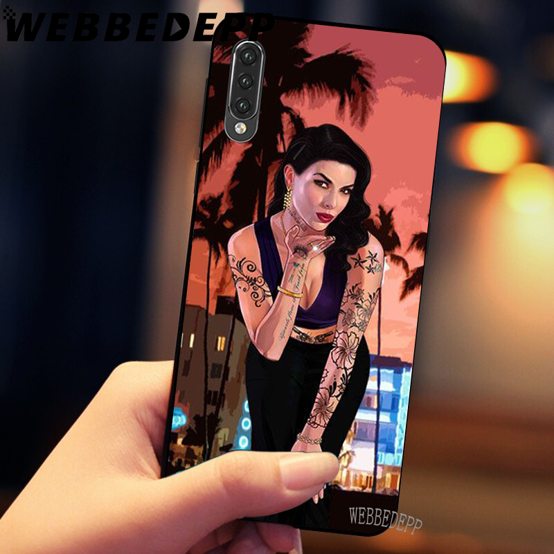 WEBBEDEPP CartoonTattoo Girl Soft TPU Cases Cover for Xiaomi Redmi 7 4A 5A 6A S2 4 4x 5 Plus 6 Pro in Fitted Cases from Cellphones Telecommunications