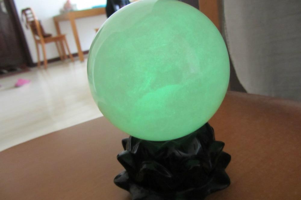 100mm brillo verde calcita brillo en la esfera de la bola de piedra oscura sanación de China-in Piedras from Hogar y Mascotas    2