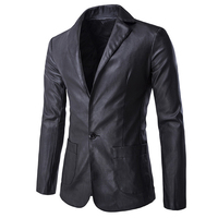 European And American Style Mens Leather Blazers Jacket Casual Men S Suit Jacket Coat For Mens