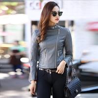 Nuovo Modo di Alta Qualità nero giacca di pelle donna cappotto del rivestimento di cuoio 2017 delle donne Faux Giacche In Pelle Pelo corto In Pelle rossa