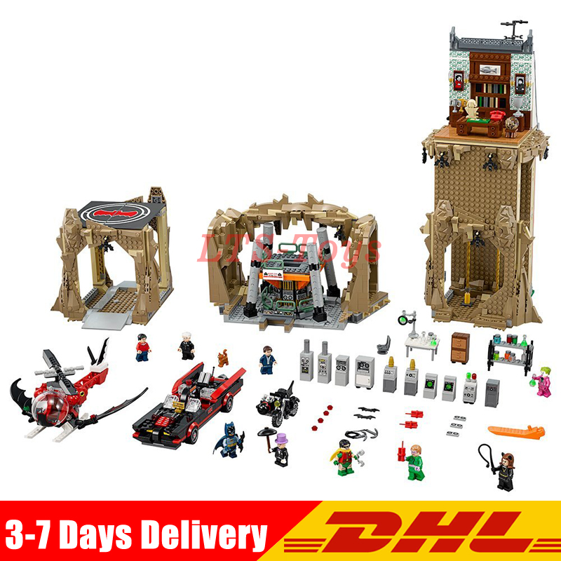 Lepin 07053 2566pcs DC Batman Super Heroes MOC Batcave Educational Building Blocks Bricks Toys Gift for Children LegoINGLY 76052 2566pcs genuine dc batman super heroes moc batcave educational building blocks bricks toys gift for children 76052