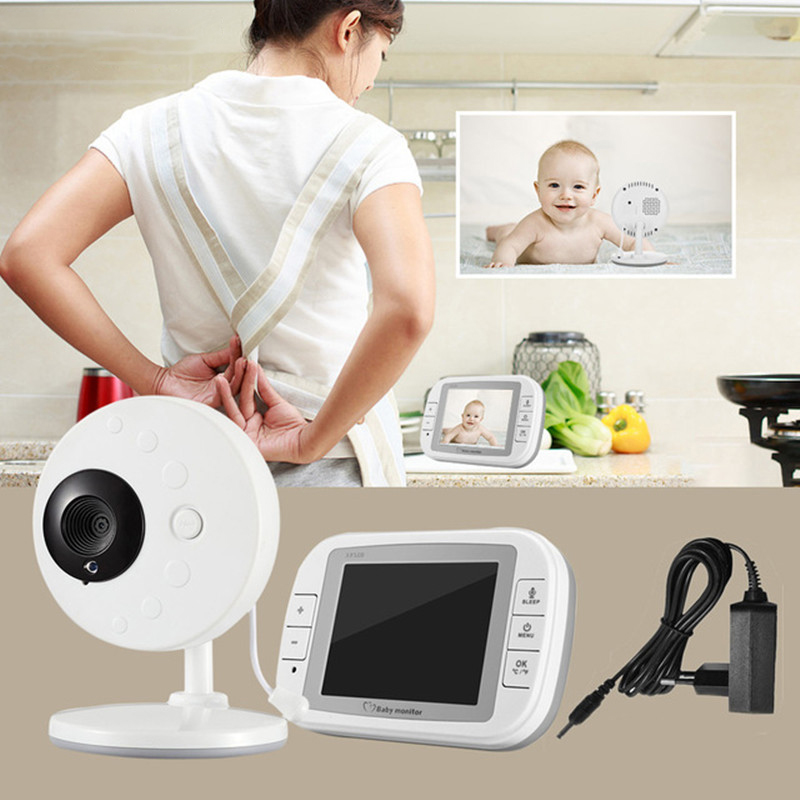 Baby Monitor 3.5 inch Wireless TFT LCD Video Baby Monitor Night Vision 2-way Audio Infant Baby Camera Digital Video Babysitter ...