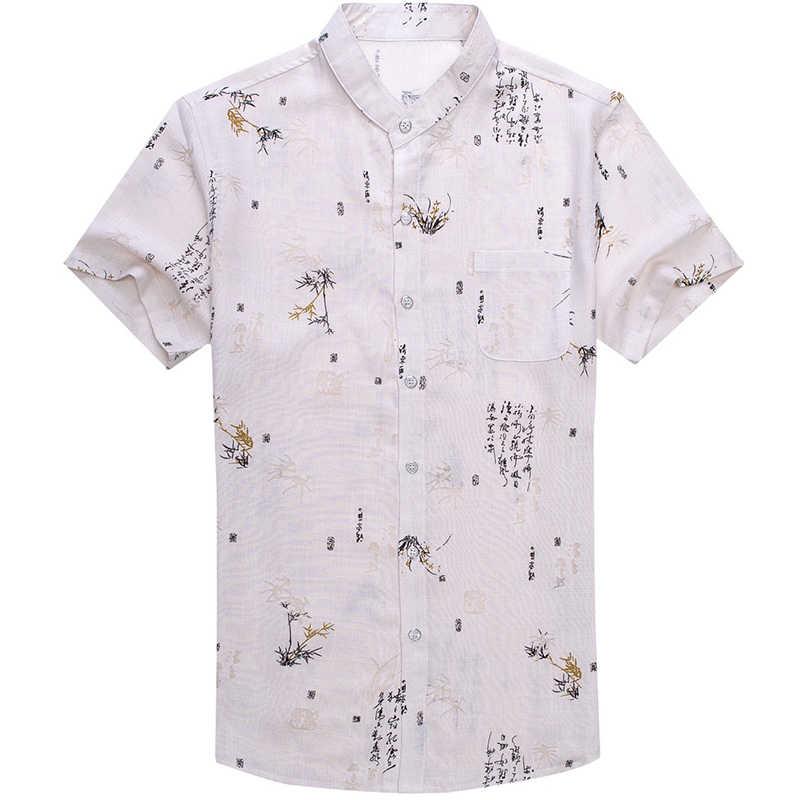 2019 ブランドカジュアルポケット夏の高級半袖スリムフィット男性のシャツ sinogram 社会ドレスシャツメンズファッション 51527