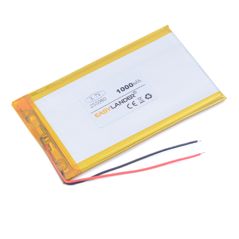 255080 3.7V 1000mAh Li-Polymer Battery For Mp4 PAD GPS bluetooth Vedio Tablet PC Power b ...