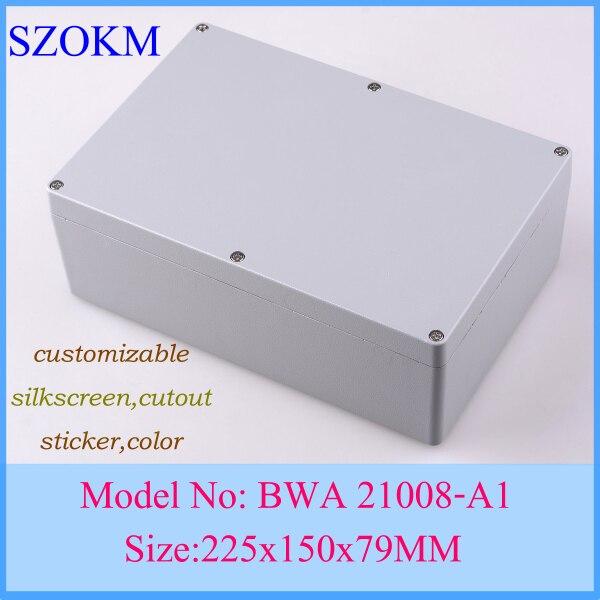 Boîte de jonction électronique IP67 boîtier étanche en aluminium boîte 225x150x79mm