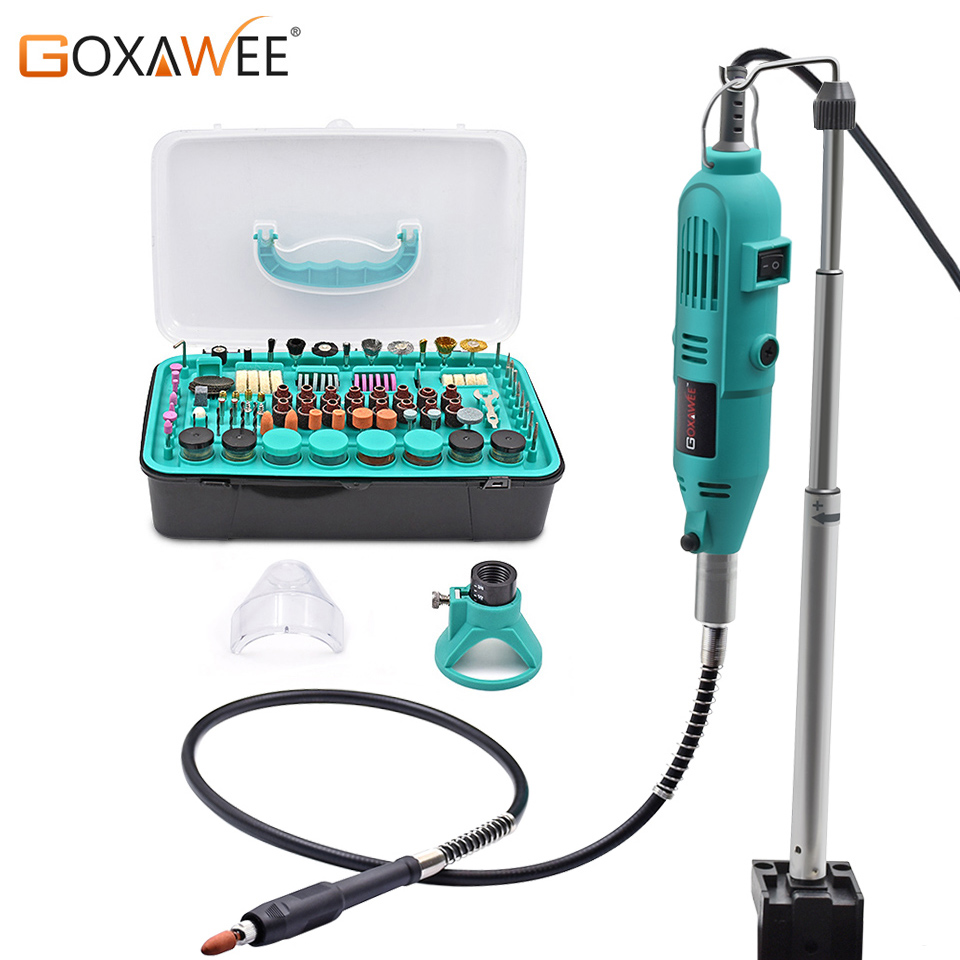 GOXAWEE 288pcs Electric Drill Engraver Die Grinder Rotary Tool Kit With Dremel Accessories For Drilling Machine