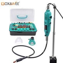 GOXAWEE 288 шт., электрическая дрель, гравер, шлифовальный станок, Вращающийся набор инструментов с Dremel, аксессуары для сверлильного станка, электроинструмент