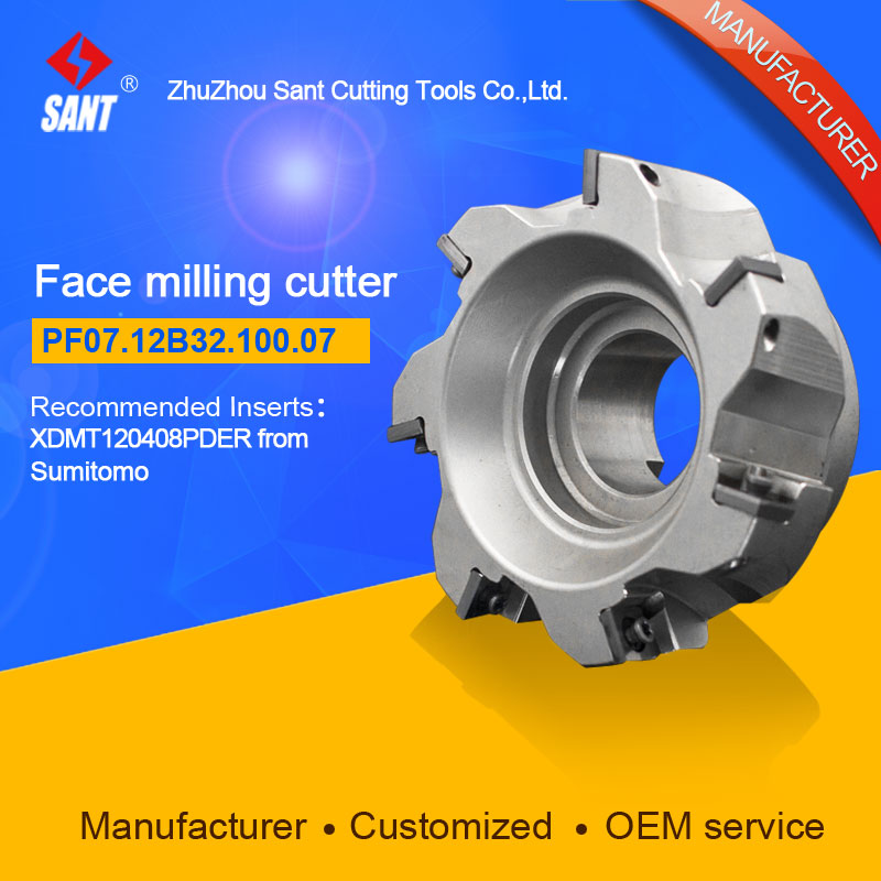 Milling tools Indexable milling cutter Match insert XDMT120408PDER from Sumitomo Face cutter cutting disc PF07.12B32.100.07 free shipping 3pte90 10 25 200 2t high speed milling indexable face mill boring bar turning tools milling cutter for 3pkt1004