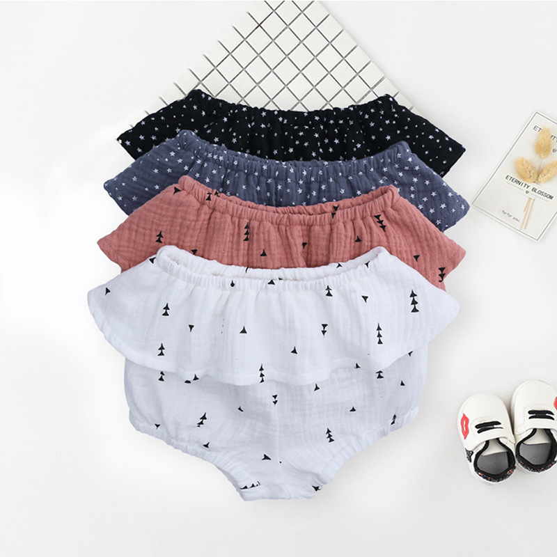 Baby   Shorts   Bloomers Summer Kids Chiffon Flower Cotton Diaper cover Baby Girl Ruffle Bottom   Shorts   Toddler Pant Clothes