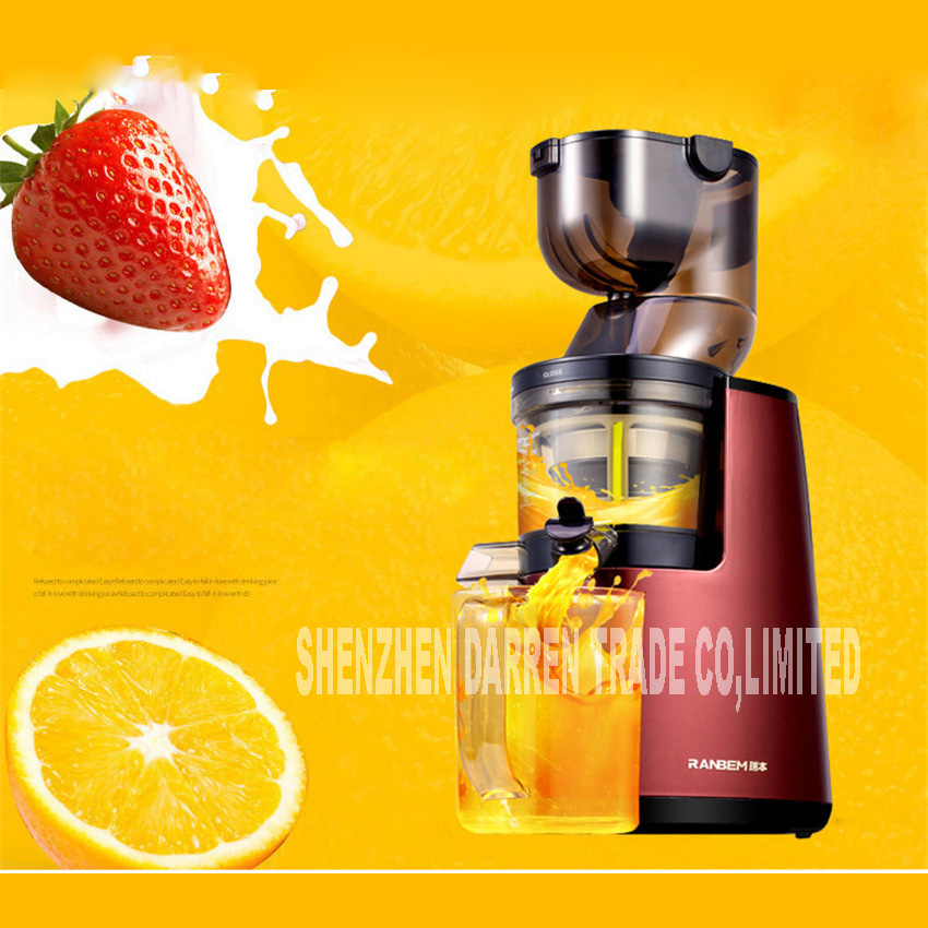 New Arrival Large Wide Mouth Feeding Chute Whole Apple Slow Juicer Fruit Vegetable Citrus Juice Extractor Squeezer 613 220V Hot glantop 2l smoothie blender fruit juice mixer juicer high performance pro commercial glthsg2029