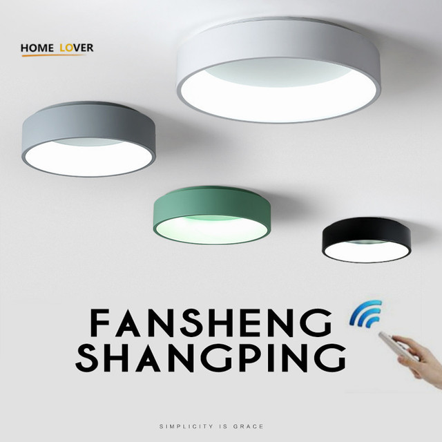 Modern Led Ceiling Lights With Remote Control For Living Room Bedroom Kitchen Fixtures Luminaria Hallway