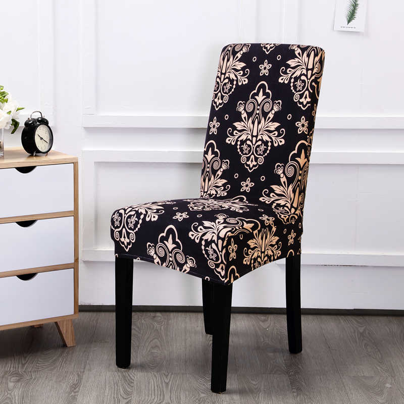Vintage Stretch Dining Chair Covers Elastic Spandex Anti-dirty Kitchen Seat  Case Dining Chair Slipcovers Wedding for Banquet