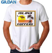 Custom Printed Shirts  Crew Neck New Style Short Sleeve Ideas Design Island Hoppers  Mens Tee Shirt military style printed round neck long sleeve tee