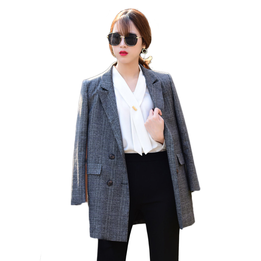 Slim Women Blazers And Jackets Spring Long Plus Size Blazer Female Feminino Femme Ladies Suit Jacket Jaqueta Feminina 50N0616