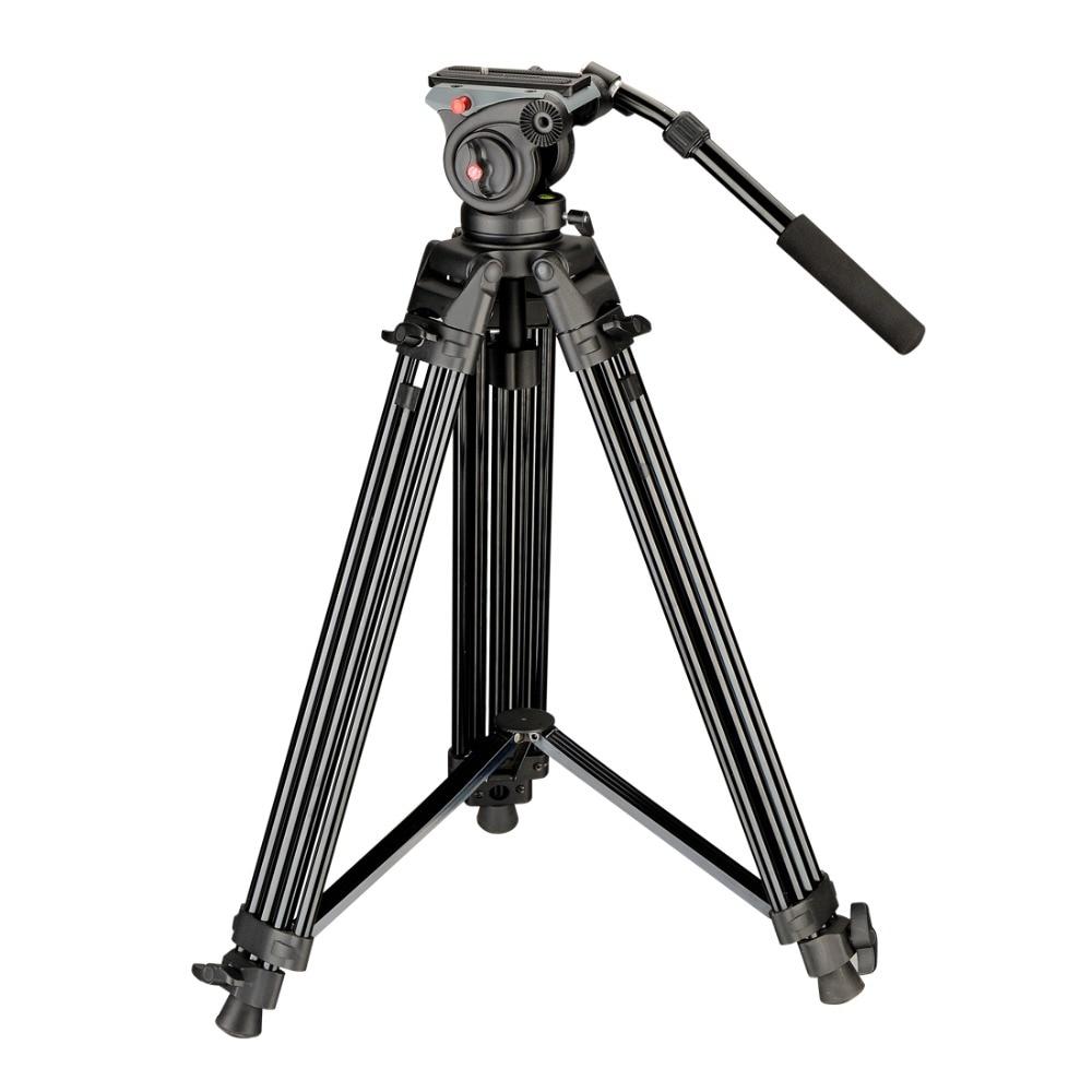DIGIPOD 55inch Professional Fluid Video font b Tripod b font Kits for Camcorder DVT 75AW DVH