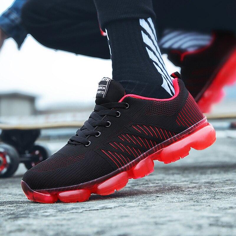 Hombres Krasovki Casual Transpirable Calzado Masculino Tamaño Lujo rojo Adulto Negro Zapatillas Tenis De Más Hombre 45 azul Marca Moda Zapatos rqr1vw