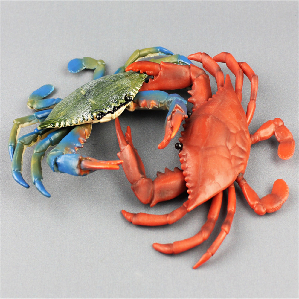 Simulation Mini Crab Collection Child Figurine Animal Model Home Decor Kids Toys Realistic Sea Animal Modern Model Accessories